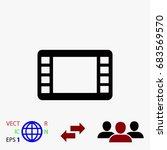 movie film strip vector icon ... | Shutterstock .eps vector #683569570
