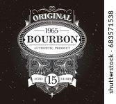 vintage bourbon label | Shutterstock .eps vector #683571538
