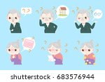 couple with alzheimer disease... | Shutterstock .eps vector #683576944