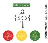 lottery winner vector icon. | Shutterstock .eps vector #683578438