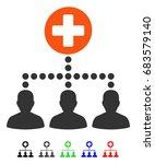 medical client links flat... | Shutterstock .eps vector #683579140