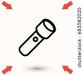 flashlight icon  vector eps 10... | Shutterstock .eps vector #683582020