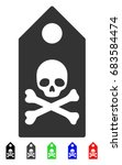 death mark flat vector... | Shutterstock .eps vector #683584474