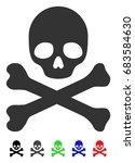 death flat vector illustration...   Shutterstock .eps vector #683584630
