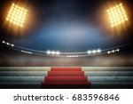 stage lights background 3d. | Shutterstock . vector #683596846