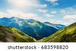 fantastic colorful landscape.... | Shutterstock . vector #683598820