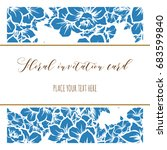 invitation with floral...   Shutterstock .eps vector #683599840