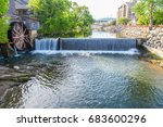 the old mill  is a historic... | Shutterstock . vector #683600296