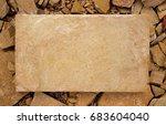 a rectangular slab of light... | Shutterstock . vector #683604040