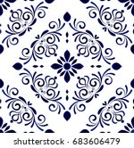 wallpaper in baroque style... | Shutterstock .eps vector #683606479