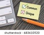 common concept instead of being ... | Shutterstock . vector #683610520