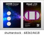 a set of brochures with dark... | Shutterstock .eps vector #683614618