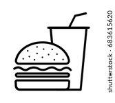 burger | Shutterstock .eps vector #683615620