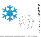 snowflake to be traced only of... | Shutterstock .eps vector #683627338