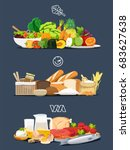 foods with health benefits.... | Shutterstock .eps vector #683627638
