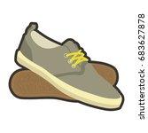 Classical Mens Brown Sneakers...
