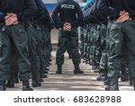 police field training outdoor    Shutterstock . vector #683628988