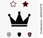 crown icon  stock vector... | Shutterstock .eps vector #683632978