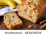 delicious banana bread with... | Shutterstock . vector #683634034