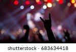spectators at a rock concert | Shutterstock . vector #683634418