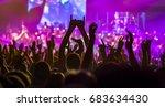 spectators at a rock concert | Shutterstock . vector #683634430