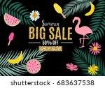 summer sale abstract banner... | Shutterstock .eps vector #683637538