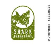 shark dangerous emblem. graphic ... | Shutterstock .eps vector #683638198