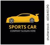 vector sport car icon   Shutterstock .eps vector #683640190