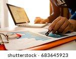 hand business working new start ... | Shutterstock . vector #683645923