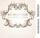 vintage frame | Shutterstock .eps vector #68365024