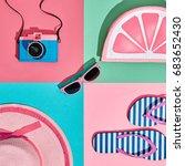 fashion film camera  retro... | Shutterstock . vector #683652430