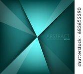 green turquoise background... | Shutterstock .eps vector #683653390