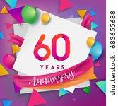 60th years anniversary... | Shutterstock .eps vector #683655688