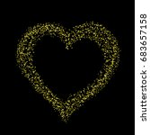 heart gold confetti stars on... | Shutterstock . vector #683657158