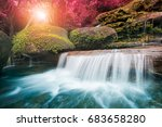 amazing beautiful waterfall in... | Shutterstock . vector #683658280