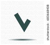 checkmark icon | Shutterstock .eps vector #683668408