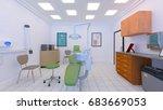 3d cg rendering of the dental... | Shutterstock . vector #683669053