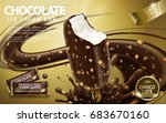 chocolate ice cream bar ads ... | Shutterstock .eps vector #683670160
