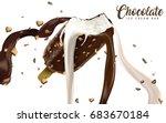 ice cream bar with creamy... | Shutterstock .eps vector #683670184