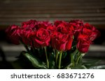 Stock photo bouquet of red roses 683671276