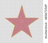 fame star on transparent... | Shutterstock . vector #683672569