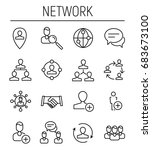 set of social network icons in... | Shutterstock .eps vector #683673100