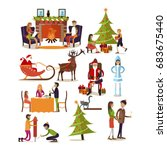 set of fairy tale characters ... | Shutterstock . vector #683675440