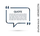 quote box. speech bubble. blank ... | Shutterstock .eps vector #683682256
