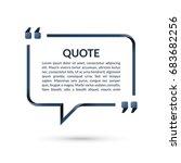 quote box. speech bubble. blank ... | Shutterstock .eps vector #683682256