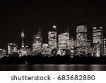 beautiful illuminated sydney... | Shutterstock . vector #683682880