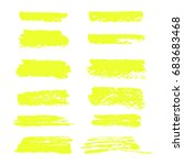 vector yellow highlighter brush ... | Shutterstock .eps vector #683683468