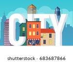 flat design modern vector... | Shutterstock .eps vector #683687866