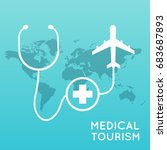 medical tourism. flat design... | Shutterstock .eps vector #683687893