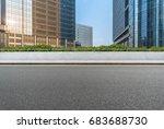 empty asphalt road front of...   Shutterstock . vector #683688730